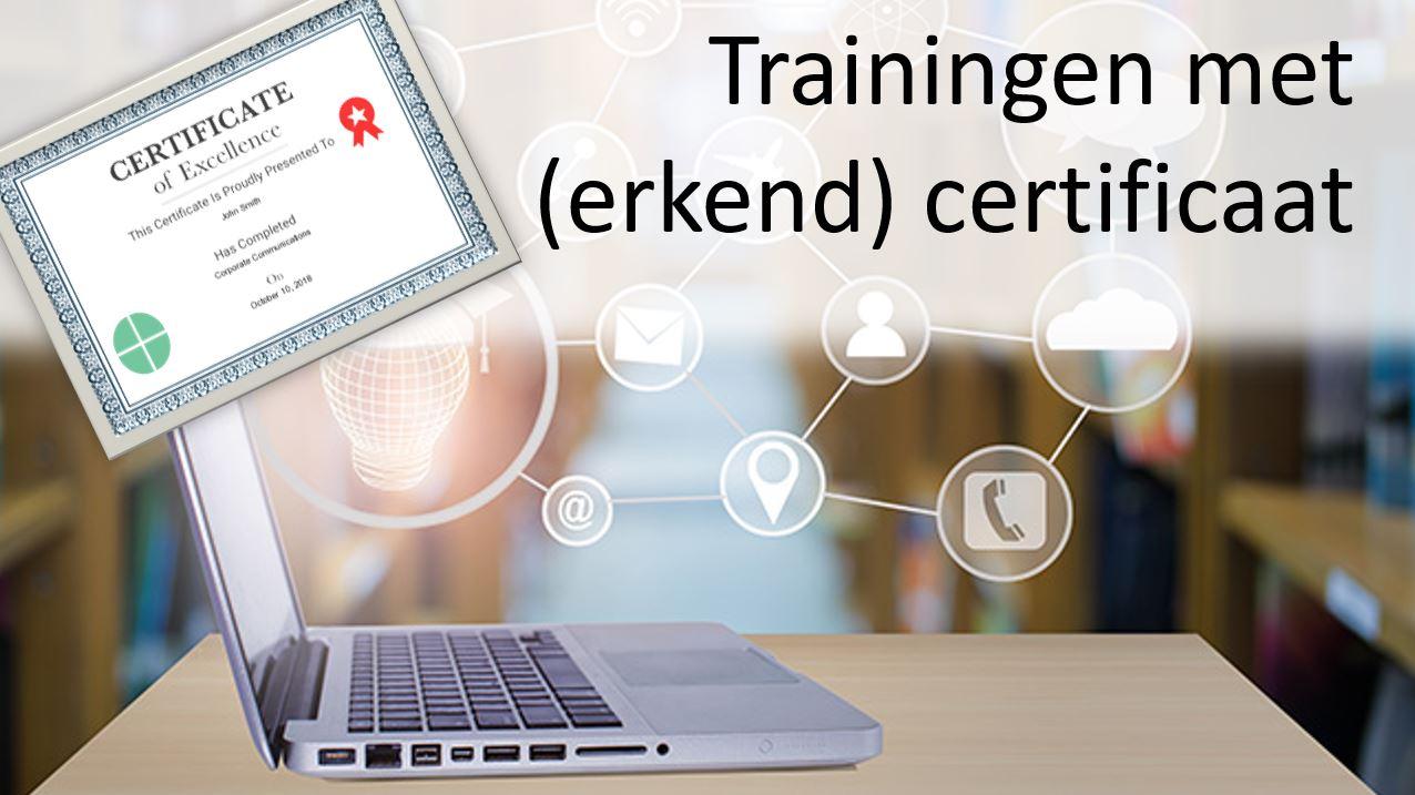 Trainingen met erkend certificaat