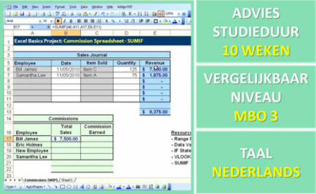 Cursus Spreadsheet