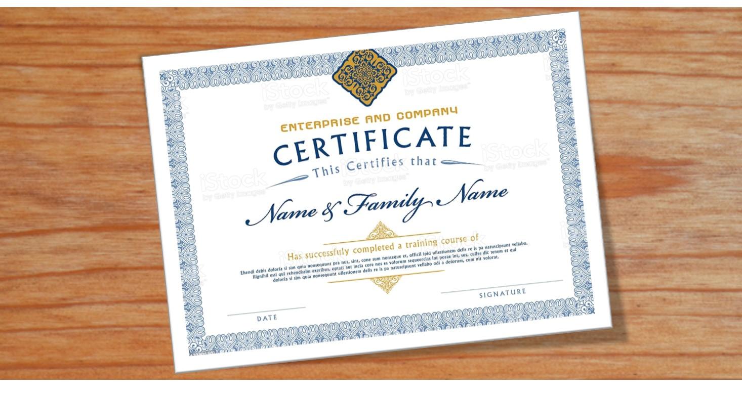 Cursussen met erkend certificaat